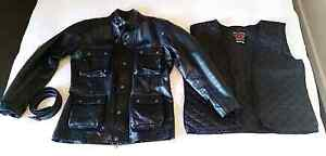 NEW Vintage BG black leather motorcycle jacket Wanneroo Wanneroo Area Preview