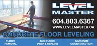 Vancouver Concrete Floor Leveling LEVEL MASTER