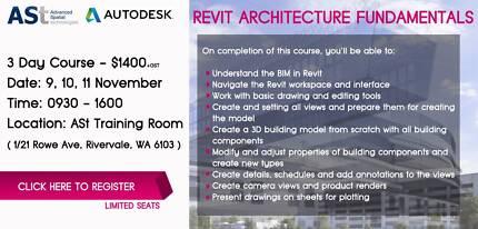 Revit Architecture Fundamentals 3 Day Training Rivervale Belmont Area Preview