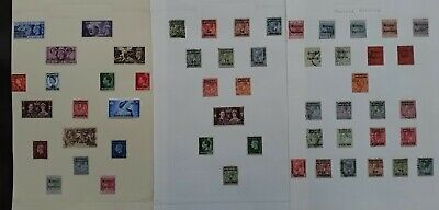 RARE 1898- Morocco British Post Offices lot of 54 stamps with O/Ps Mint/Used