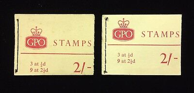GPO / GREAT BRITAIN BLACK STITCHED STAMP BOOKLETS COMPLETE / UNUSED 2 pc LOT B