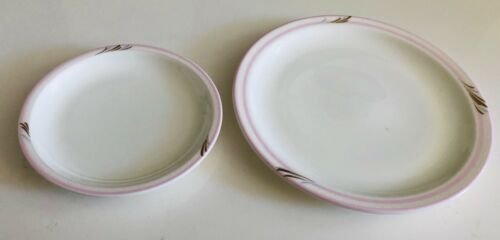 JAL Japan Airlines 2 Plates - Pink Band