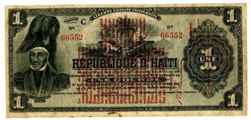Haiti … P-137 … 1 Gourde  … L.1916 … * F+ *  Serie C.