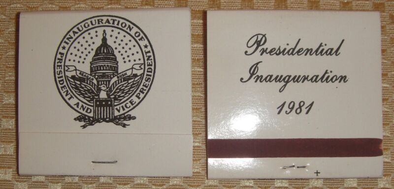 Reagan 1981 Inaugural Match Books (2) Vintage New Cond Great $$ + FREE Shipping