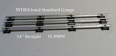 "MTH LIONEL CORPORATION 14.5"" STANDARD GAUGE STRAIGHT TRACK std gauge 11-99091"