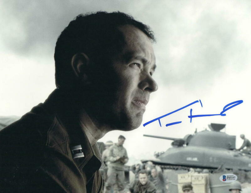 TOM HANKS SIGNED 11X14 PHOTO SAVING PRIVATE RYAN AUTHENTIC AUTOGRAPH BECKETT F