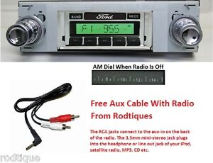 1963-1964 Ford Galaxie Radio w/ FREE Aux Cable + 230 Stereo **