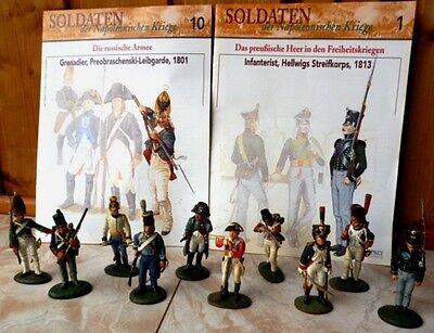 Del Prado - Sammlung von 80 Zinnfiguren - Soldaten - Napoleonische Kriege