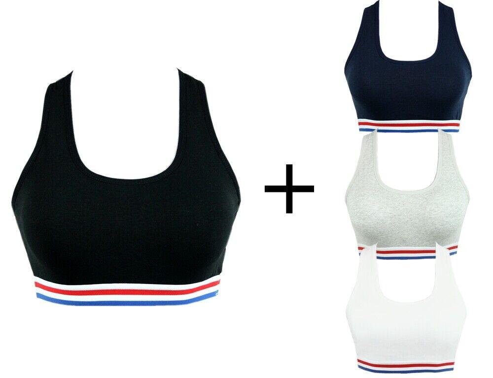 Damen Sport BH Comfort BH Soft-Einlage Bustier Bra Top Push Up Baumwolle #5364
