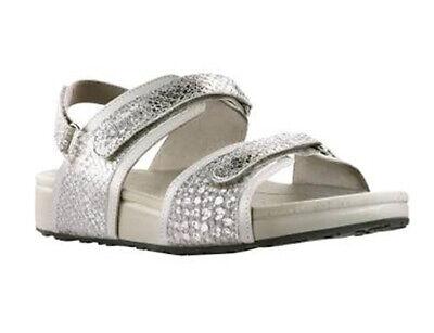 New Joya Amalfi Silver Women's Velcro Sandal