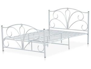 Double Metal Bed Frame 4ft6 White Queen Size Double Bed Frames Steel