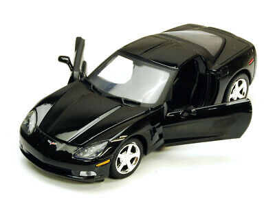 Chevy Corvette C6, Black - Motormax 7370 - 1/24 scale Diecast Model Toy Car