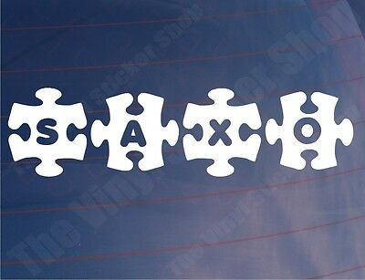 SAXO JIGSAW Novelty Citroen Car/Window/Bumper Stickers/Decals - Various Colours