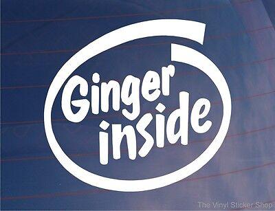 GINGER INSIDE Funny Redhead Car/Van/Truck/Bumper/Window Vinyl Sticker/Decal