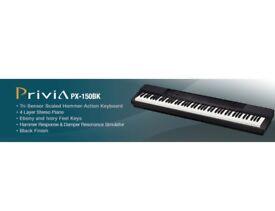 CASIO Privia 150bk 88 key hammer action keyboard