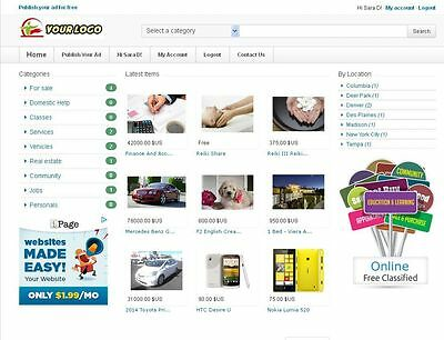 Classified Ads Website  Class Theme    Free Install