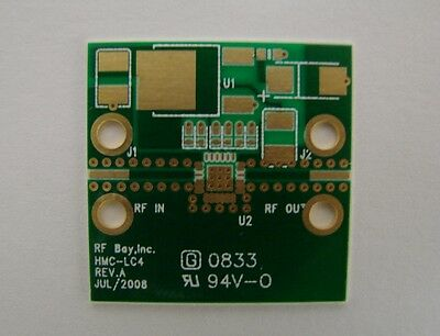 Ro4350 Pcb For Hittite Lc4 Package Mmic Amplifier