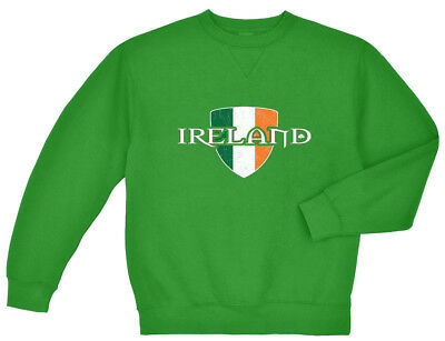 Ireland crest Irish Flag St Patricks Day Sweatshirt For Men Green Sweat Shirt