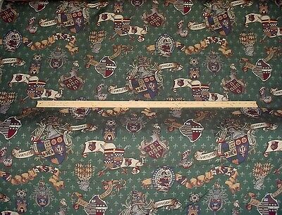 2-1/4Y INCREDIBLE ALGEMENE SALZBURG COAT OF ARMS TAPESTRY UPHOLSTERY FABRIC