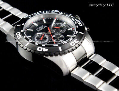 NEW Invicta Men's PRO DIVER Black Dial 2 TONE Stainless Steel Chronograph Watch