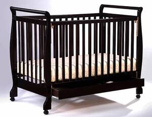 Brand New Pine Wooden Sleigh Baby Cot Crib Toddler Bed Pine Wood Auburn Auburn Area Preview