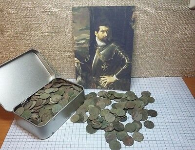 Lot of 50 coins. Solidus copper 1660-1666 John ll Casimir Vasa  Lithuania Poland
