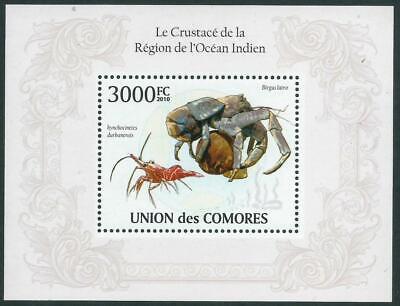 UNION des COMORES - CRUSTACEANS OF THE INDIAN OCEAN Miniature Sheet MNH [A0813]