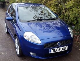 Cheap Fiat Grande Punto 1.4 16v Sporting 3dr, 1 Years MOT, NO Advisories, Full Service History