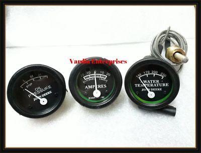John Deere Tractor Oil Pressure Ammeter Temp Gauge Set Fit In 50 60 70 520 530