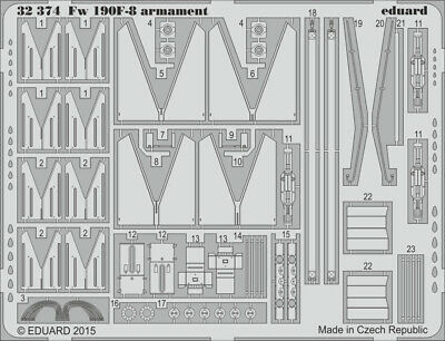 Eduard 1:32 Fw-190 F-8 Armament for Revell PE Detail Set 32374