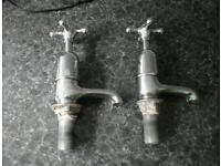 Pair of bath taps from 50s or 60s