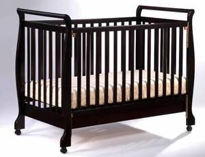 Brand New Wooden Baby Cot Crib Toddler bed with mattress & wheels Auburn Auburn Area Preview
