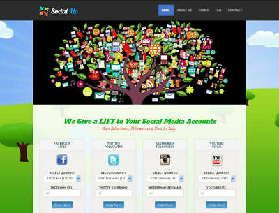 Social Media Marketing Reseller Website - 100 Outsourced - Business In A Box