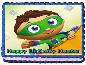SUPER WHY EDIBLE CAKE TOPPER BIRTHDAY DECORATIONS
