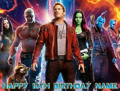EDIBLE Guardians of the Galaxy Cake Topper Birthday Wafer Paper Sheet (8x10.5