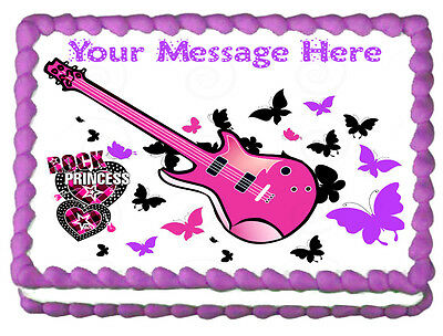 ROCKSTAR PRINCESS Image Edible cake topper decoration](Rock Star Cake Decorations)