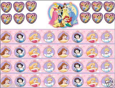 Disney Princess Cake Kit (Disney Princess Edible Cake Cupcake Decoration Topper Kit Border Toppers Set)