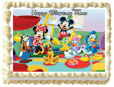 MICKEY MOUSE CLUB HOUSE Edible Cake topper Party image - Mickey Mouse Wedding Cake Topper