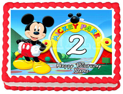 MICKEY MOUSE Edible Cake topper Party image - Mickey Mouse Wedding Cake Topper