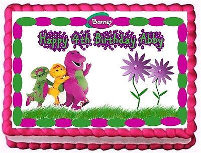 Barney And Friends Party Supplies (BARNEY AND FRIENDS EDIBLE CAKE TOPPER BIRTHDAY DECORATIONS)