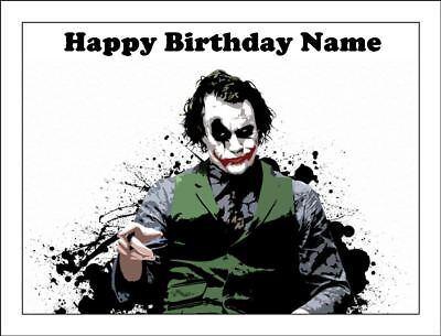 Joker Birthday Cake (THE JOKER A4 A4 Edible Icing Birthday Cake Party Decoration Topper)