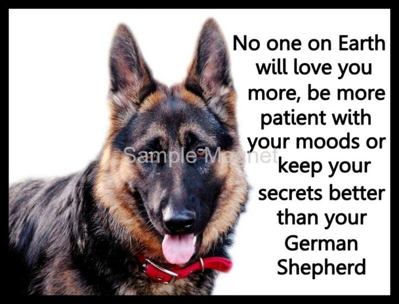 "GERMAN SHEPHERD  Motivational Fridge Magnet 4"" x 3"""