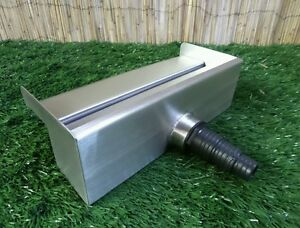 300mm Stainless Steel Waterfall WATER BLADE Cascade Koi Fish Pond  BACK INLET