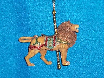 New 2015 Kurt Adler Lion Carousel Ornament