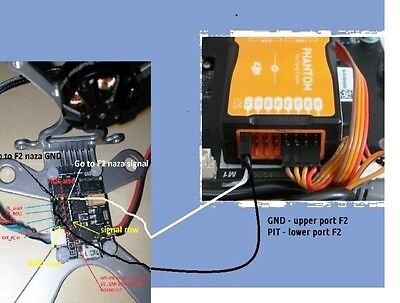 Fig. 9. -  Use the F2 port for tilt control for all Phantoms with Naza controller