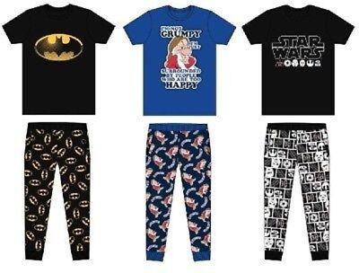Mens Character Marvel Superhero Pyjamas Official Licensed Merchandise S-XL