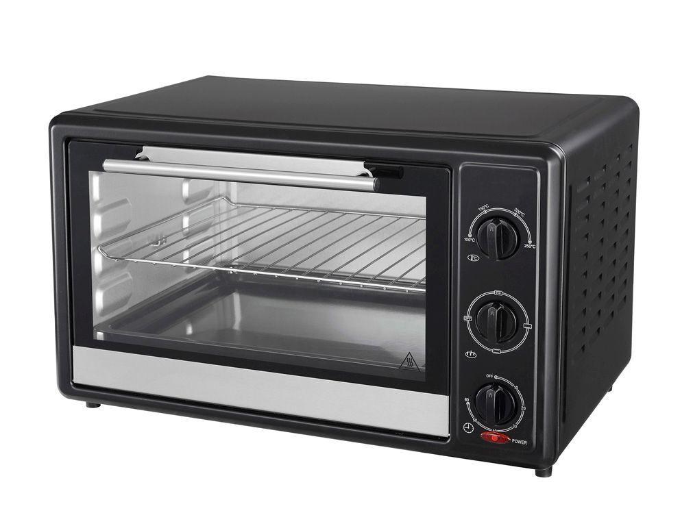 Backofen mit Drehspieß 35L Grill Minibackofen Ofen Pizzaofen Timer 1700 Watt Neu