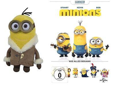 DVD * MINIONS  DER FILM (WIE ALLES BEGANN) + PLÜSCH ICE KEVIN IM SET # NEU OVP  (Der Film Minions)