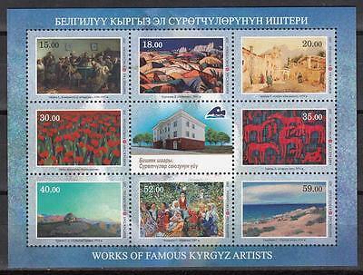 Kyrgyzstan Kirgistan MNH** 2015 Mi.841-48 Works of Kyrgyz Art