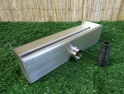 400mm Stainless Steel Waterfall WATER BLADE Cascade Koi Fish Pond  BACK INLET